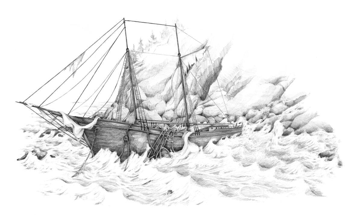 Sketch of schooner Bella