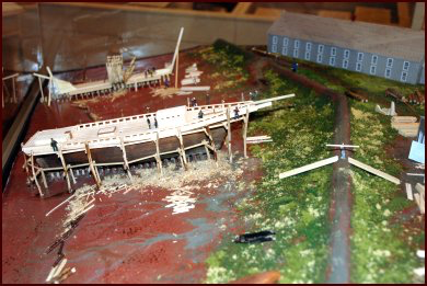 The Boultenhouse Shipyard model