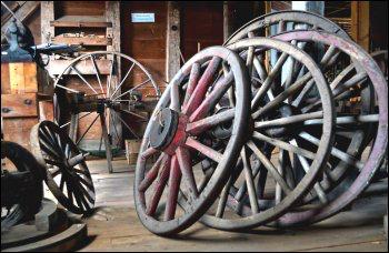 wheels were hand-made