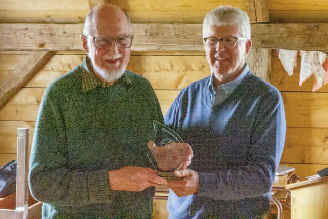 Charlie Scobie receiving Distinguished Service Award