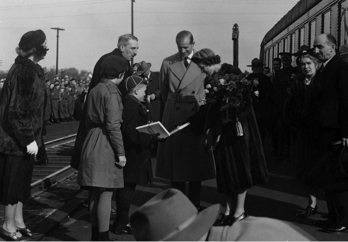 Princess Elizabeth visits Sackville 1951