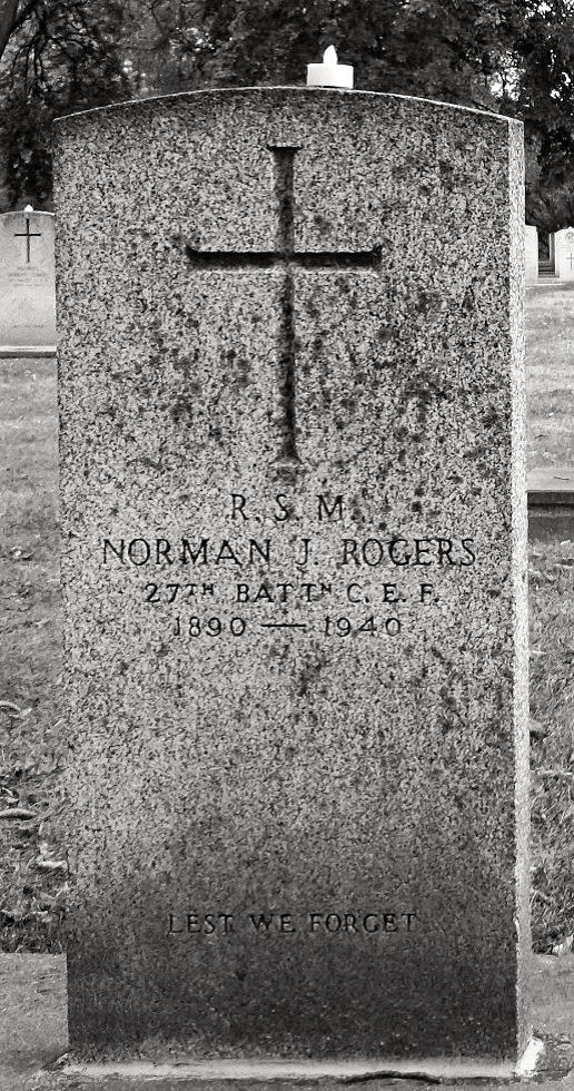 Memorial for Norman Rogers, Winnipeg, Manitoba