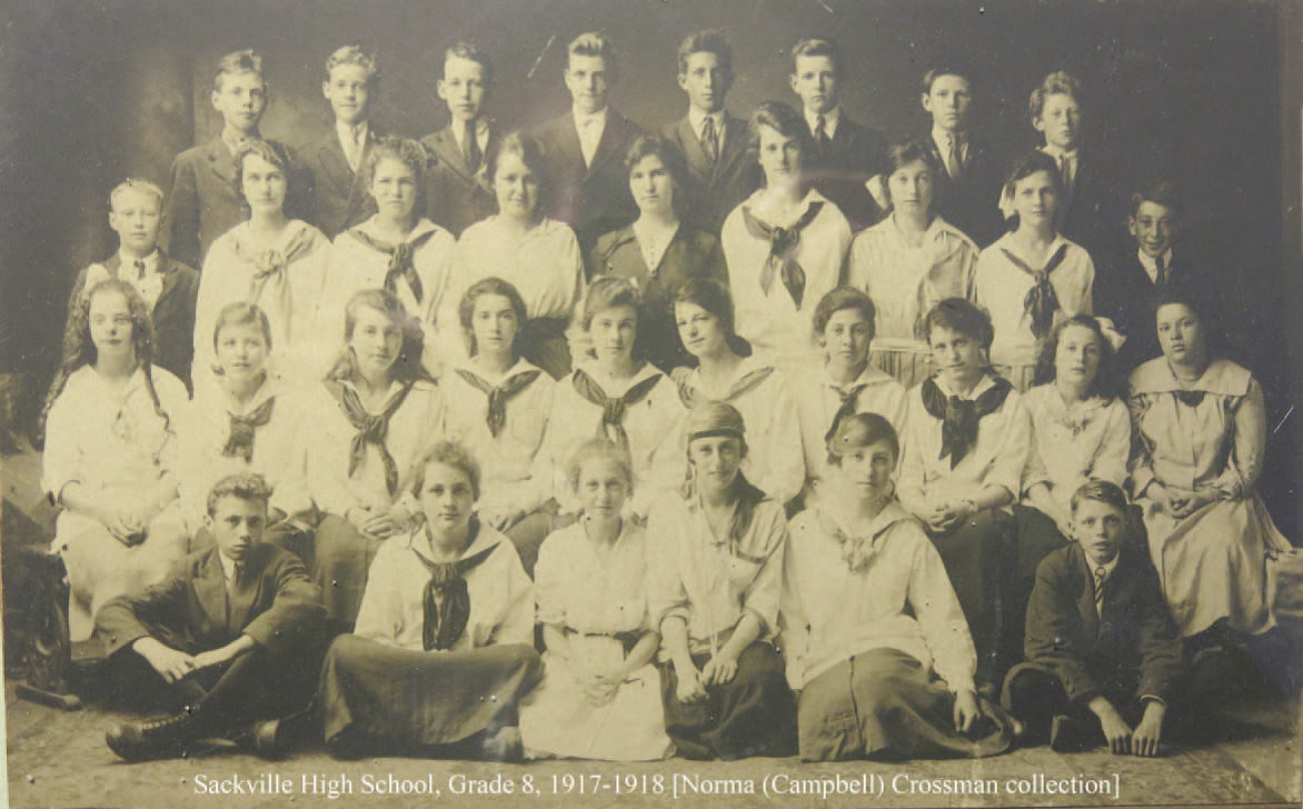 Sackville High School Grade 8 Class 1917-1918