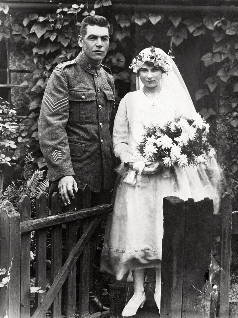 Wedding photo of Norman Rogers and Ellen Laura May