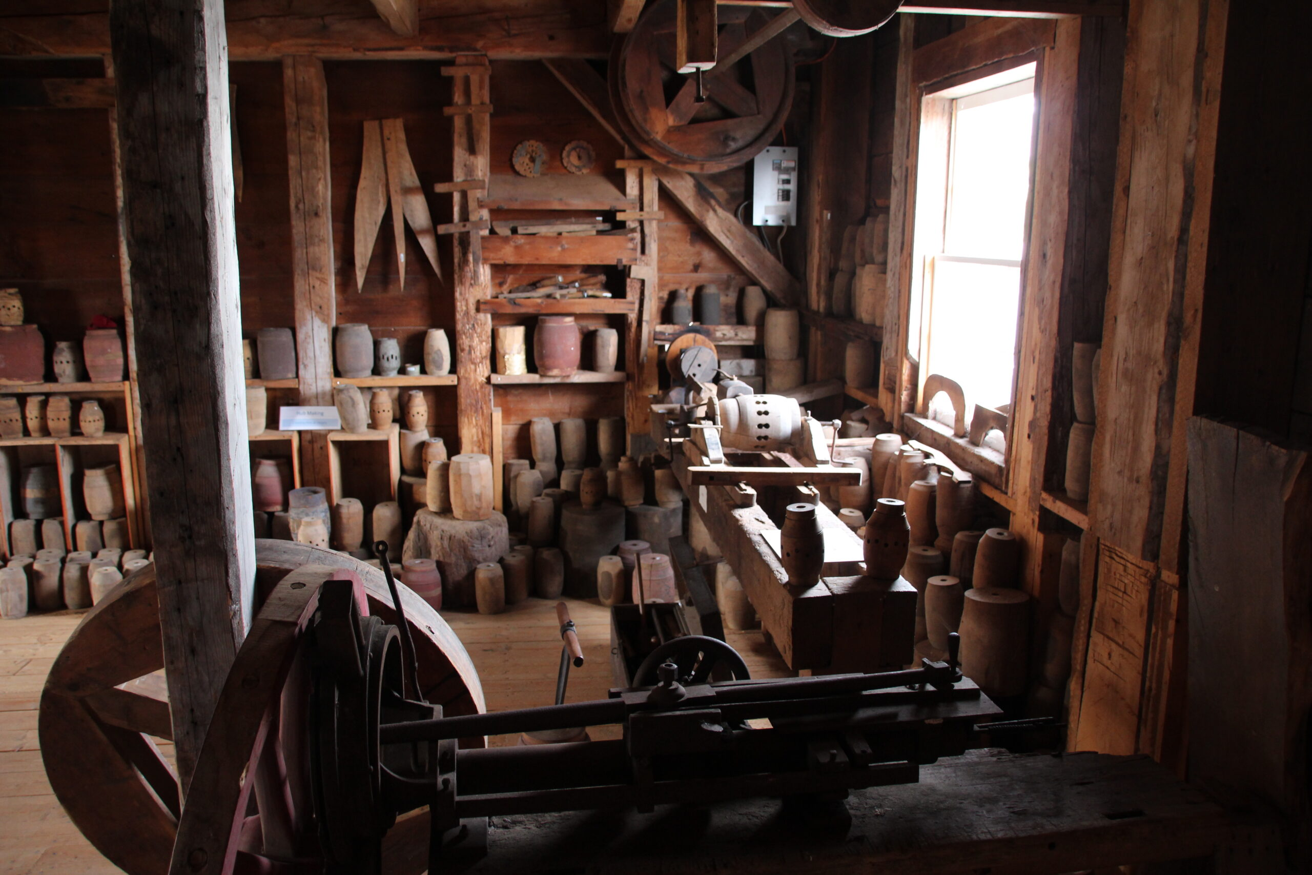 Photo of machine room at Carriage Factory Museum