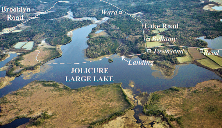Aerial photograph of Jolicure Large Lake