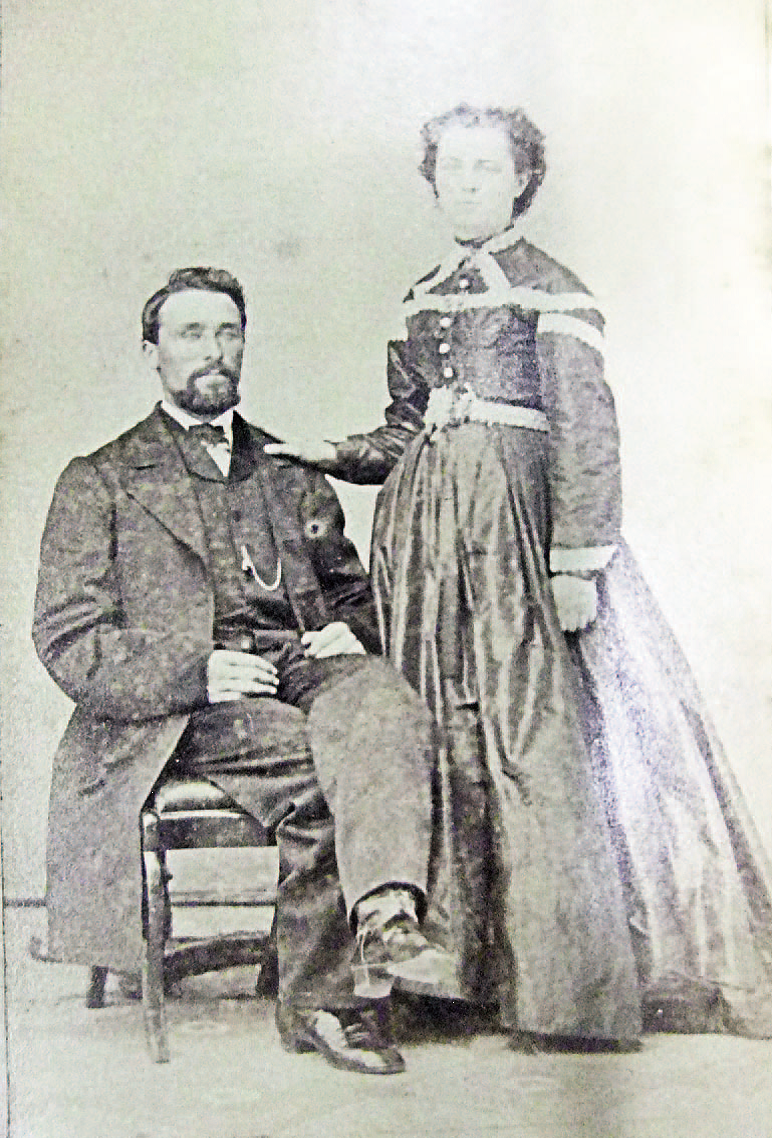Photograph of Captain George Anderson with his wife Arabella
