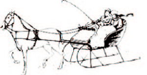 Drawing of horse and sleigh