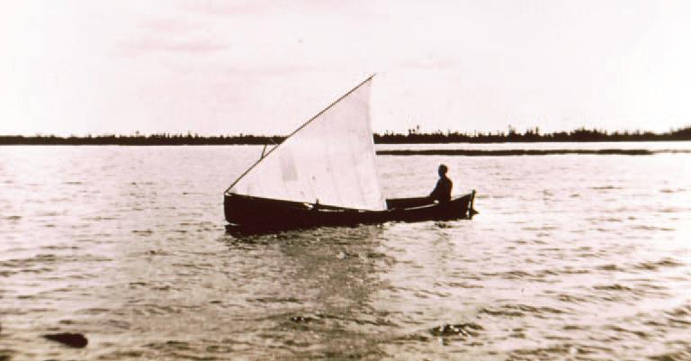 Photograph of boat on Jolicure Large Lake