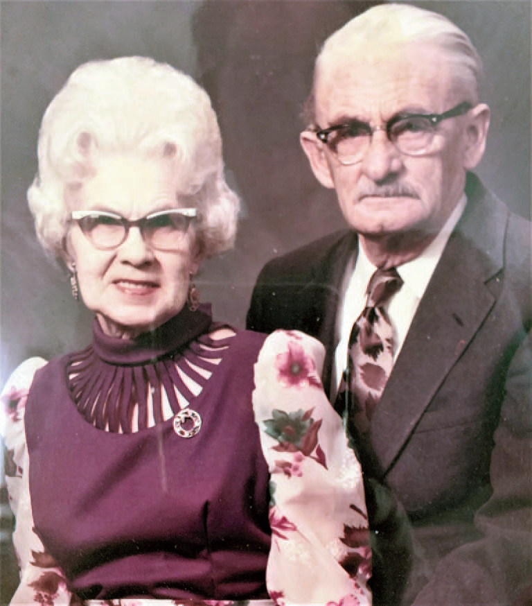 Photograph of Teckla Ward and Ernest Tower